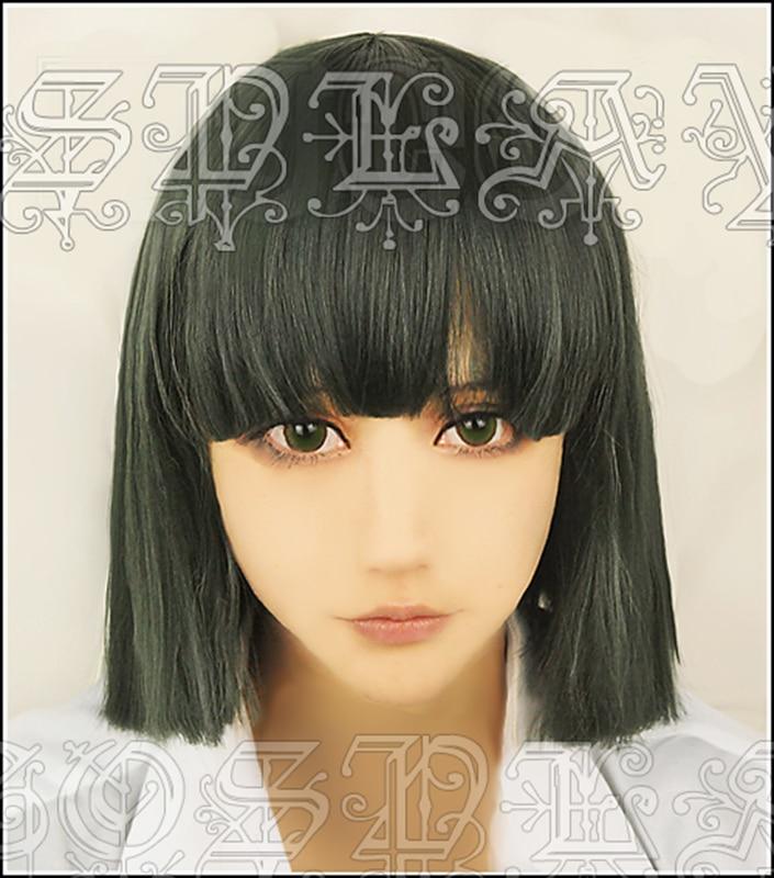 Anime Spirited Away Haku Nigihayami Kohakunushi 35cm Short Green Mixed Cosplay Heat Resistant Synthetic Hair Wigs + Wig Cap