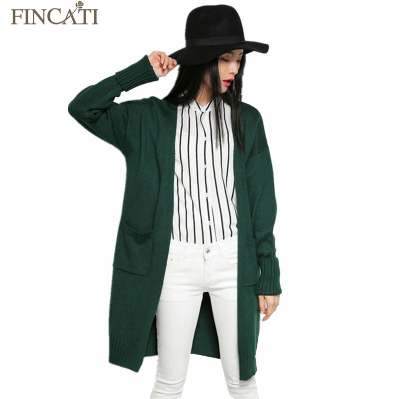 Cardigans Women Autumn New Cashmere Blend Knitted Cardigan Long Sleeve Open Stitch Knitwear With Pockets Casual Elegant Sweaters