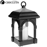 CHICLITS Portable Solar LED Candle Lantern Outdoor Waterproof Hang Lamp Home Garden Yard Lawn Path Camping Wall Decoration Light