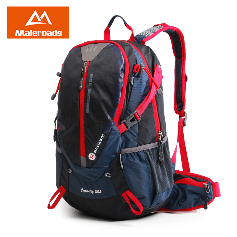 Maleroads Brand 30L Bicycle Backpack Travel Mochilas Waterproof Nylon Bicycle Bagpack Camp Hike Climb Bags Pack For Men Women large 75l feel pioneer professional waterproof cr travel backpack camp hike mochilas climb bagpack laptop bag pack for men women