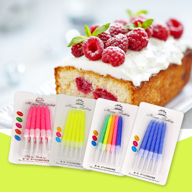 Online Shop 4 Pack 40pcs Birthday Candels Color Thread Cake Candle