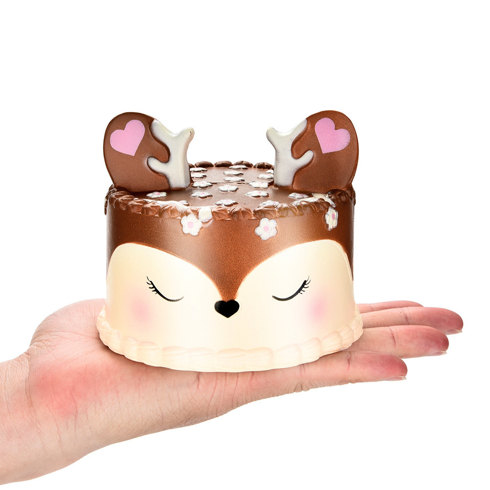 1pc Hot Sale 10CM Squishy Jumbo Deer Cake Slow Rising Scented Squeeze Toy Collection Cure Gift   6.17