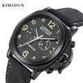 Часы мужские  люксовый бренд KIMSDUN  автоматические механические часы  водонепроницаемые  высококачественные кожаные Наручные часы  мужские ...