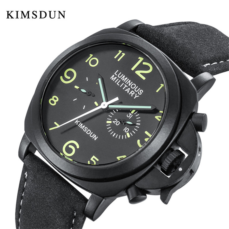 Watches Men Luxury Brand KIMSDUN Automatic Mechanical Watch Waterproof High Quality Leather Wristwatch relogio masculino Clock