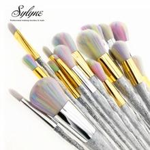Sylyne набор кистей для макияжа 5 шт/7 шт единорог Радуга лицо и глаза Профессиональный набор кистей для макияжа инструменты