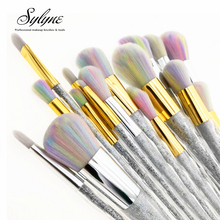 Sylyne makeup brush set 5pcs/7pcs/10pcs unicorn rainbow face & eye professional make up brush kit tools.