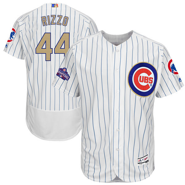 8f5e74e6e ... mlb mens chicago cubs 44 anthony rizzo white 2017 gold program flex  base player jersey men