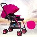 BBH portátil e leve dobrável deitado e sentado carrinho guarda-chuva carrinho de bebê de viagens