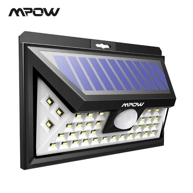 Mpow CD117 40 LED luz Solar ajustable del Sensor de movimiento impermeable al aire libre del Panel Solar de ángulo ancho para la vía de jardín y patio de luces