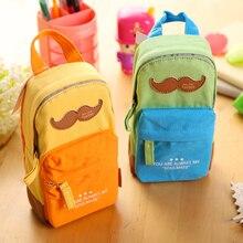 School Bag Shape Pencil Bag School Pencil Case Multi-Function Big Capacity Writing Materials Bag Office Estojo Escola Estuche