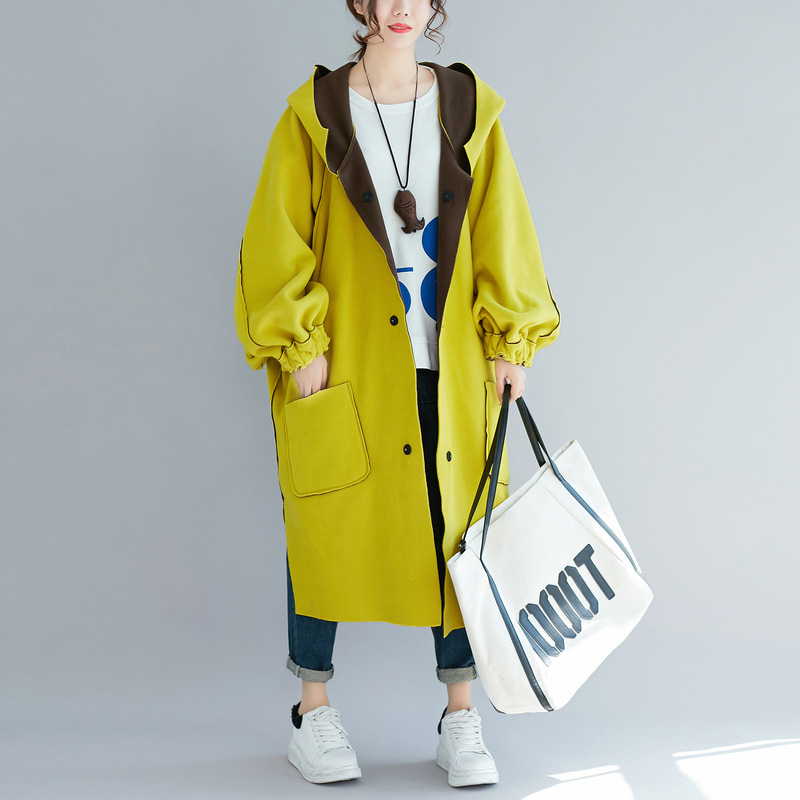 Plus Size Thick Long Velvet   Trench   Coat Women Reversible Wear Winter Hooded Coats Female Oversized Loose Clothes 5xl 6xl 2018