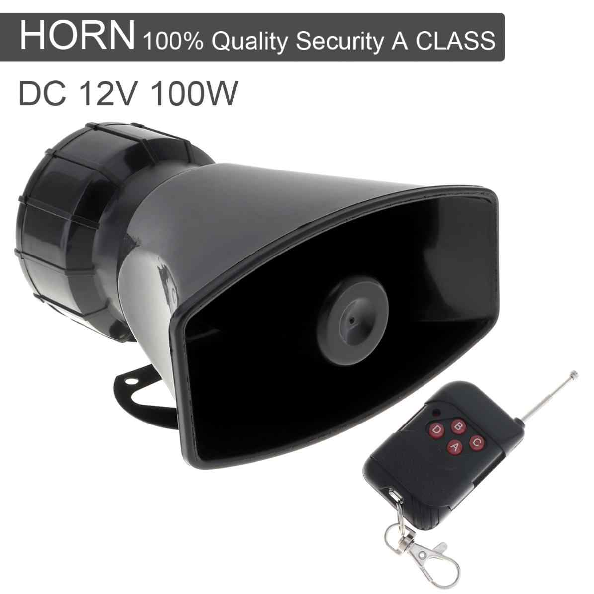 12V 100W 7 Sound Tones Loud Horn Motor Auto Car Vehicle