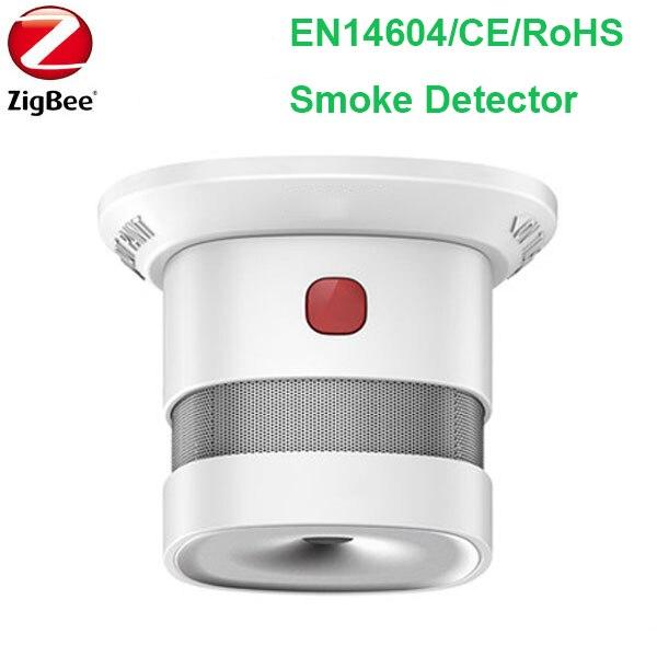 Wireless Zigbee Smart Anti-fire Alarm Smoke Sensor CE ROSH EN14604 Approved Smoke Detector