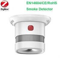 ワイヤレス Zigbee スマートアンチ火災警報煙センサー CE ロッシュ EN14604 承認煙検出器