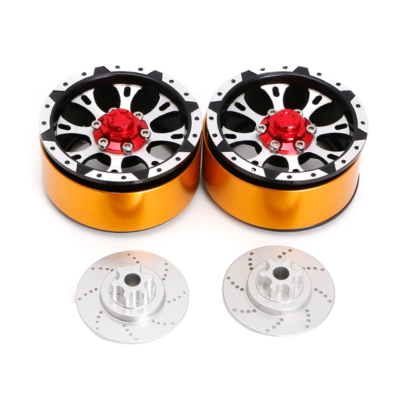 4Pcs Metal 1.9 Inch Beadlock Wheel Rim for RC Rock Crawler Axial SCX10 TAMIYA 2 2 plating beadlock wheel