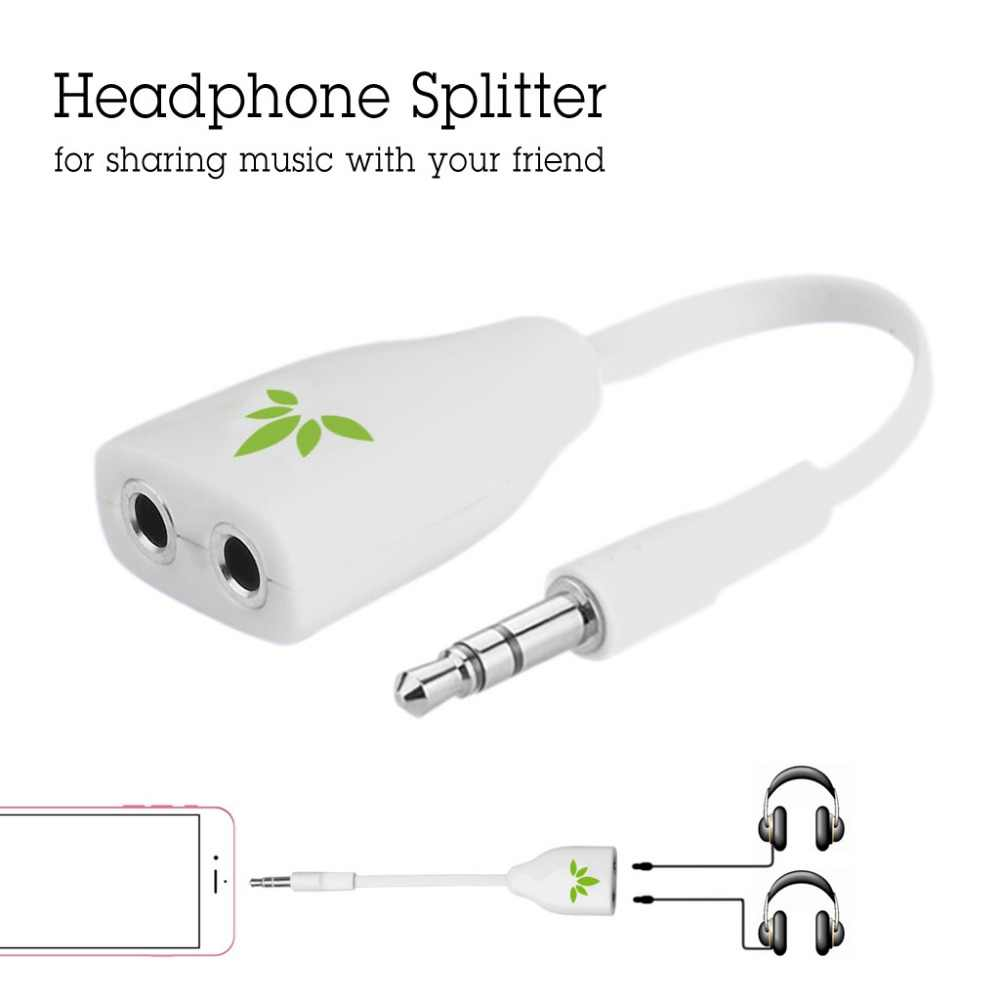 Tablets y reproductores MP3 Compatible para Smartphones iPhone Samsung Divisor de Cable en Y de Audio Auxiliar Est/éreo Avantree adaptador para auriculares 3,5mm Audio Splitter LG