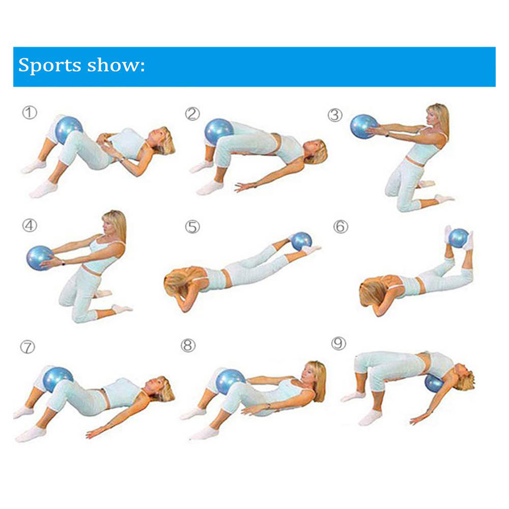 yoga balle Zhiye Mini Pilates Balle Yoga Petit Ballon d/'exercice Core Fitness Bender