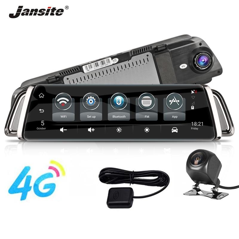 Jansite 10 pouces voiture dash caméra voiture dvr Android ADAS LDWS Bluetooth appel inverse image surveillance à distance IPS GPS G capteur