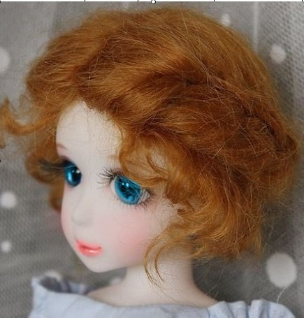 1/6 Classic twist  mohair doll wig  Mohair wigs for Collection Porcelain doll  Doll accessories