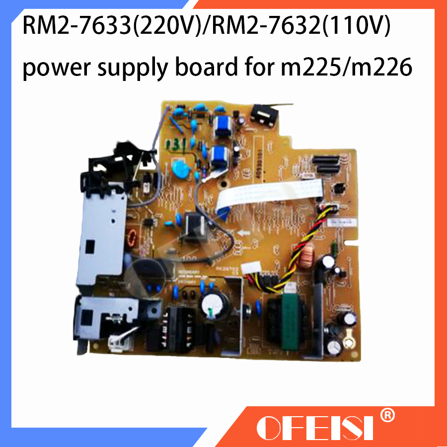 Original RM2-7633/RM2-7633-000CN/RM2-7632-000CN Power supply board For HP Laserjet pro MFP M225dn/M226dn/M225DW/M226DWprinter new original for hp m125 m125a m126 m127 m128 fuser assembly rm2 5134 rm2 5134 000cn rm2 5133 000cn rc2 9205 rm2 5133