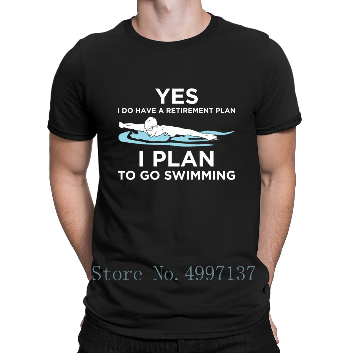 Yes I Do Have A Retirement Plan Swimming Pool Gift T Shirt 100% Cotton Character Solid Color Spring Autumn Fashion O-Neck Shirt image