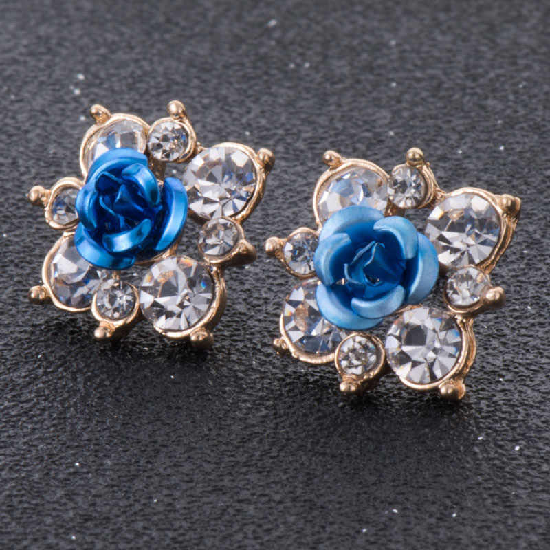 New Design Fashion Accessories Resin Flower Stud Earrings For Temperament Lady Hot Sale Best Gift
