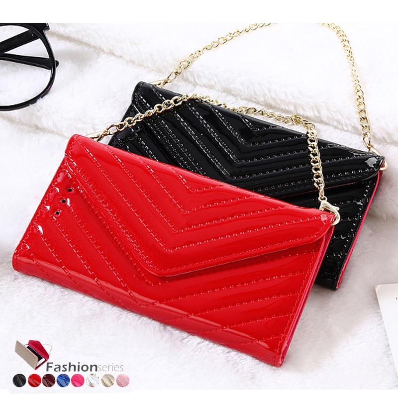 2017 latest fashion flip wallet handbag style leather case for iphone 7 7Plus 7 Plus patent