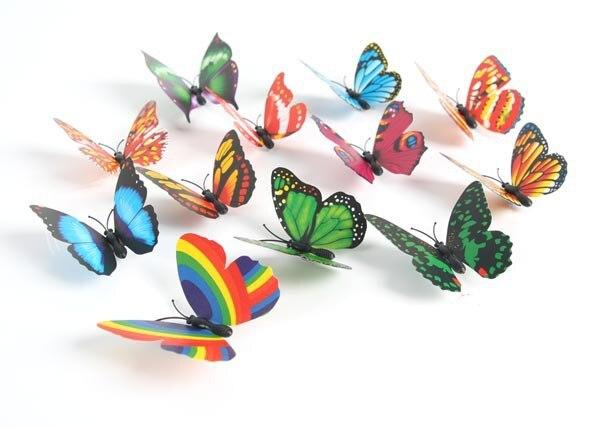 100 Stks/lot. Plastic Vlinder Magneten, Kids Speelgoed. Vroege Educatief Diy. Kleuterschool Ambachten. Geschenken. Groothandel