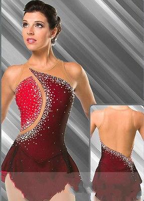 crvene figure klizanje haljine za žene natjecanje klizanje haljina - Sportska odjeća i pribor
