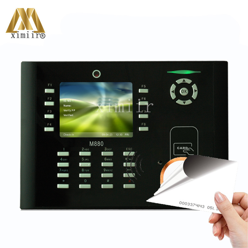 New arriveed ZK M880 3.5 Inch Color Screen TCP/IP Card Time Attendance Time Clock 125KHZ RFID Card Time Recorder With CameraNew arriveed ZK M880 3.5 Inch Color Screen TCP/IP Card Time Attendance Time Clock 125KHZ RFID Card Time Recorder With Camera