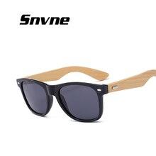 Snvne pierna gafas de madera De Bambú de madera gafas de sol oculo lentes oculos lunette de soleil gafas de sol feminino masculino mujer