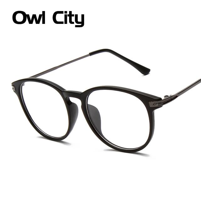 Retro gafas marco hombre mujer lente transparente negro Floral marco ...