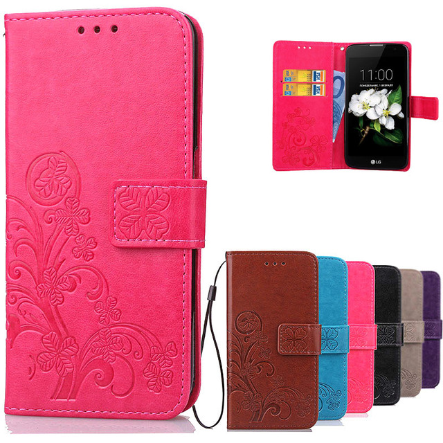 best service 349eb 1703c US $3.63 18% OFF|Luxury Leather Case For LG K7 Flip Cover phone Cases Card  Slots Stand Cover For LG K7 X210DS X210 Tribute 5 LS675 K 7 LGK7 Cases-in  ...