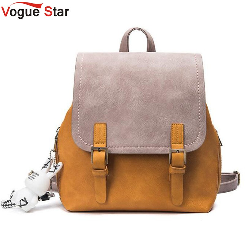 Vogue star Fashion Women Backpack PU Leather Women's Shoulder Bag Schoolbags without toy LB316 men without women
