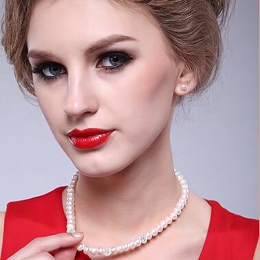 ZHBORUINI 2019 Pearl ყელსაბამი 925 - ლამაზი სამკაულები - ფოტო 6