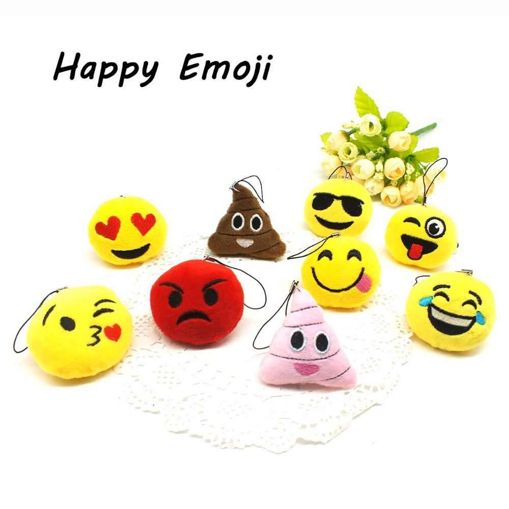 Emoji Sorriso Dos Desenhos Animados Chaveiro Emoticon Bonito Divertido Chaveiro Anime chaveiro Dom Brinquedo Macio para As Mulheres Bolsa Pingente Acessório