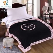 Romanee VS Pink Blanket Victoria/'s secret Fleece Bedding Throws on the bed/Sofa/Car Portable Plaids Bedspread Gift Hot sale