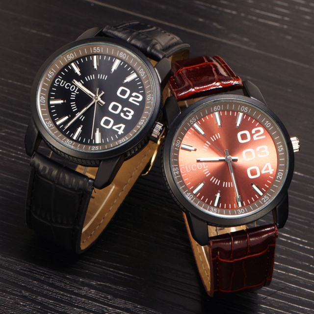 Luxury Brand Leather Men Fashion Sports Watch Casual Quartz Business Watches Military Wristwatch Hour Relogio Masculino