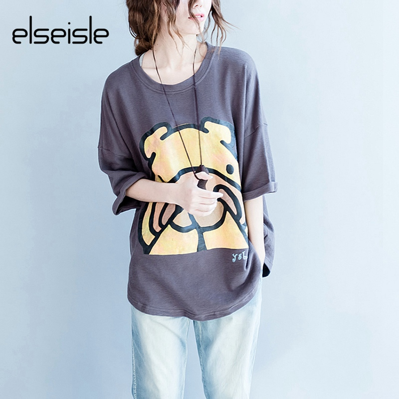 086368329 Summer Printed Kawaii animals Women t shirt Short Sleeve Casual Blusas Plus  size Women tops Harajuku