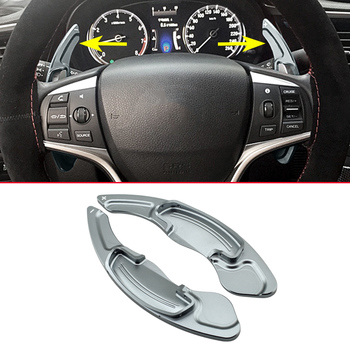 2Pcs Faced Gray Aluminum Steering Wheel Gear Shifter Ex Paddle For Honda Accord CR-V Acura MDX RDX ILX Comfortable Accessories