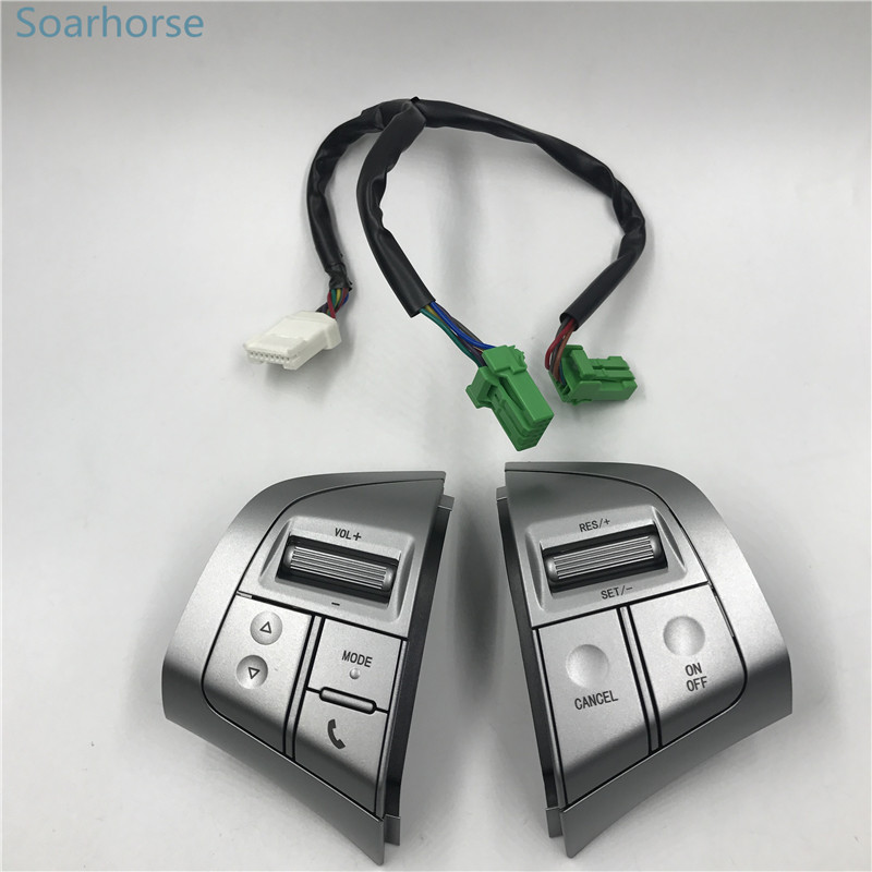 Soarhorse For Isuzu MU-X Mux D-MAX Dmax Multifunction Steering Wheel Audio Volume Bluetooth Cruise Control Switch button kb lb isuzu d max h beam connecting rod for 4x4 d max isuzu dmax turbo diesel engine parts common rail 4jj1 tcx i4 light strong