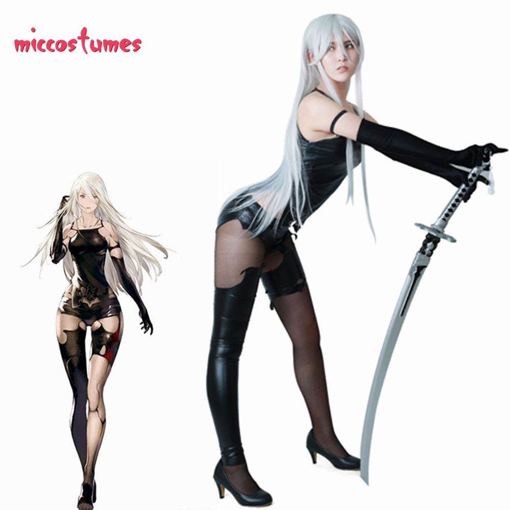 Nier: Automata YoRHa Type A No.2 Cosplay Costume Bodysuit Stockings Gloves-in Game Costumes from Novelty & Special Use    1