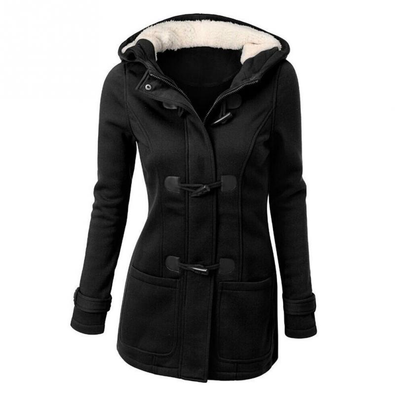 Winter Coat   Parkas   Spring Autumn Regular Warm Ladies Jacket With Long Sleeves