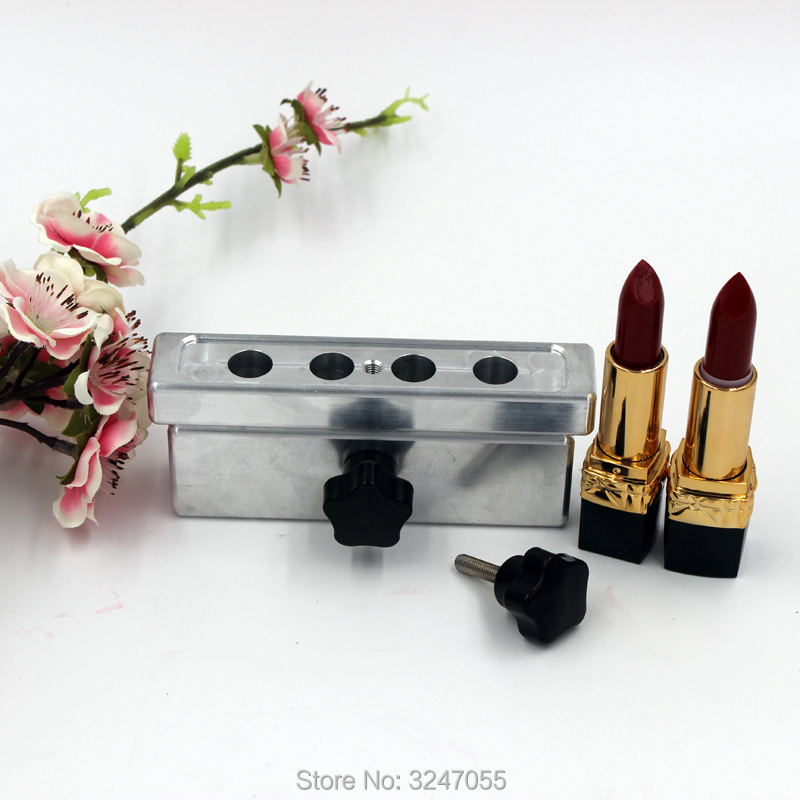 1Set/Lot 12.1mm 4Holes Empty Aluminum Lipstick Mold, High Quality 4C Cavities Convenitent Aluminum Lip Rouge Mold, Beauty Tool 1set 11 1mm oblique edge lipstick mold diy aluminum lip rouge filling mold convenient lip balm filling aluminum mold