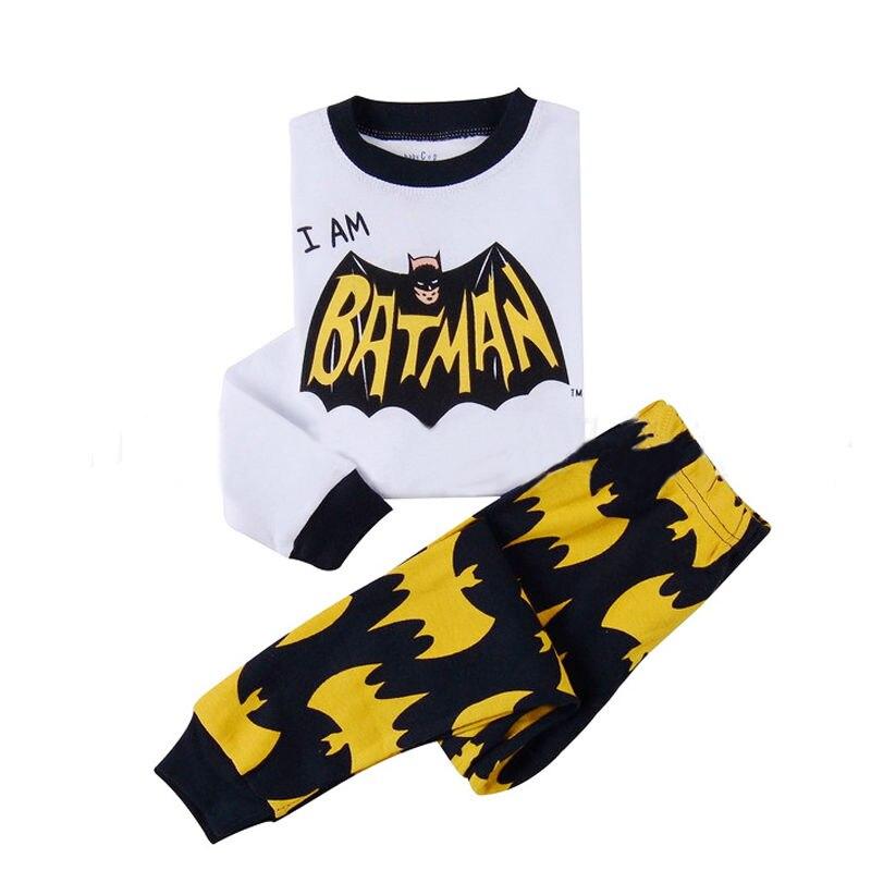 Baby Kids Boys Batman Cotton Nightwear Pajamas Set Sleepwear 2-8Years