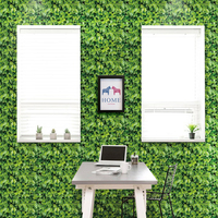 Self Adhesive Wallpaper 3D Green Leaves PVC Waterproof Wall Sticker Dining Room Living Room Creative Art Wall Paper Home Decor