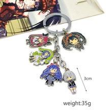 Fashion Keychains font b Anime b font Date A Live Key Chains KEYCHAIN Cosplay Keyring Charm