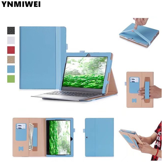 finest selection 223bd 22774 US $14.01 6% OFF|YNMIWEI For Miix 320 Tablet Keyboard Case For Lenovo  Ideapad Miix 320 10.1'' Leather Cover Cases Wallet Case hand holder  +films-in ...