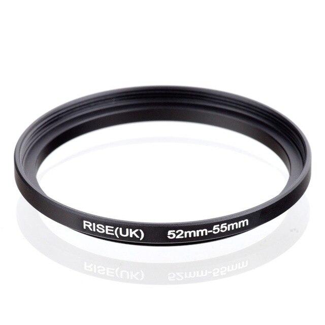 מקורי עלייה (בריטניה) 52mm 55mm 52 55mm 52 כדי 55 צעד עד טבעת מסנן מתאם שחור
