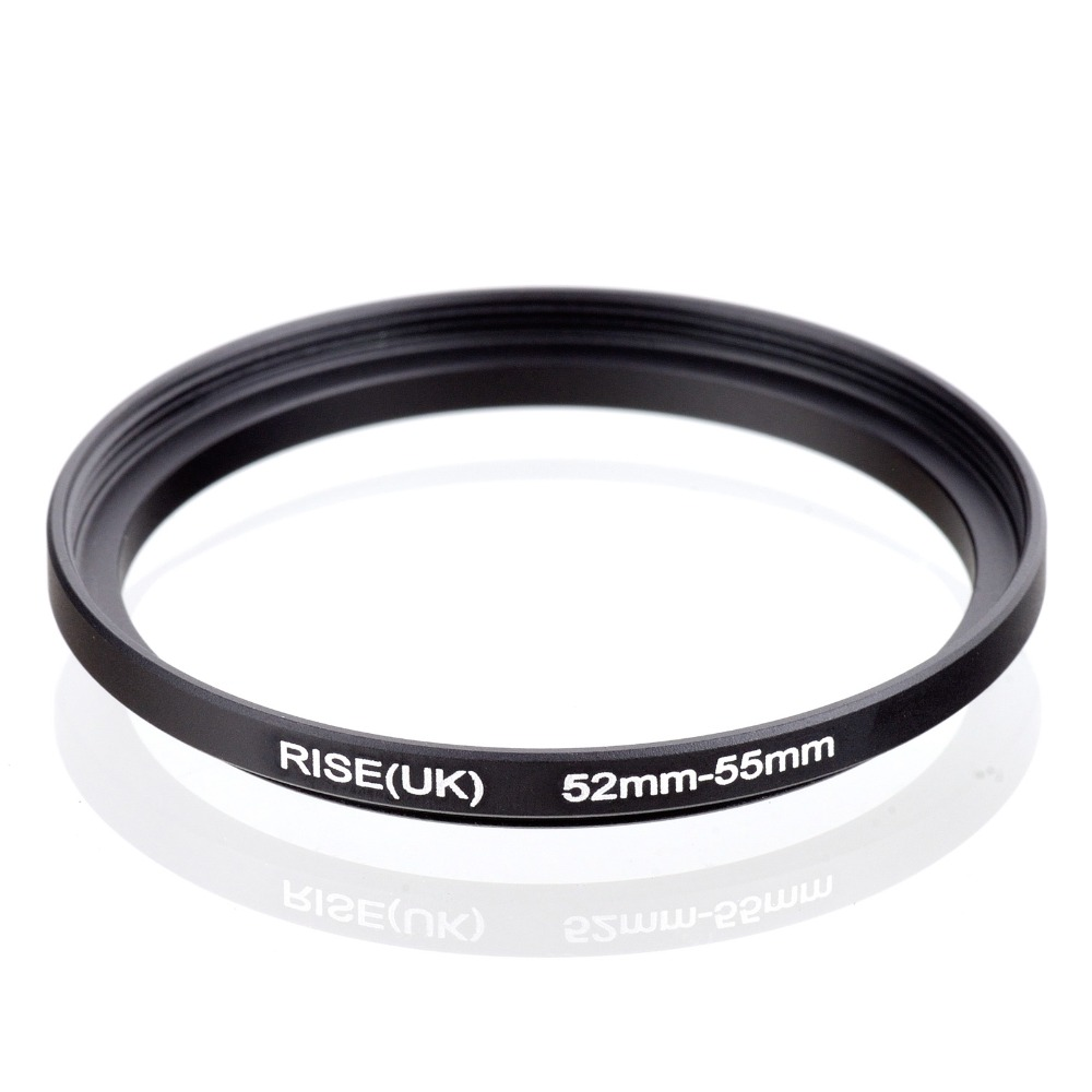 Original RISE(UK) 52mm-55mm 52-55mm 52 To 55 Step Up Ring Filter Adapter Black